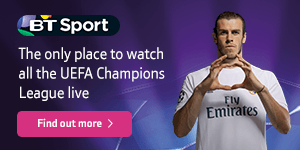 BT Sport Europe – the only place to watch all the UEFA Champions League live